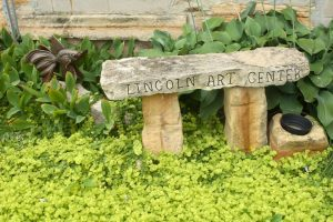The Art Center is currently working on adding outdoor sculpture pieces. The first one was installed at the Lincoln County Courthouse grounds, and three more have been added to the art center garden.
