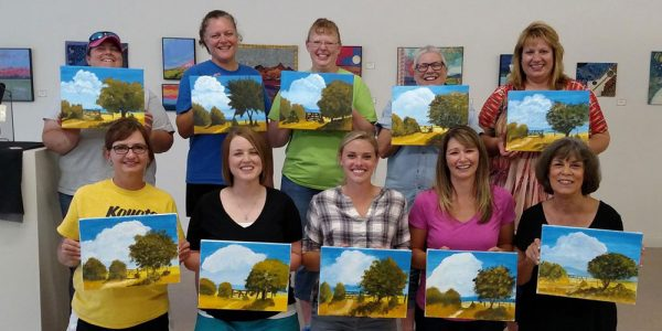 """New in 2016, the Lincoln Art Center began offering a wine and paint class each month, called """"Gogh Paint."""""""
