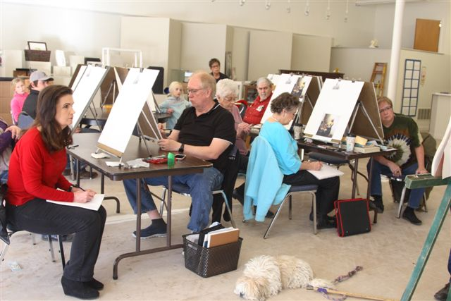 Jim Nelson Drawing Class at the Lincoln Art Center February 2020